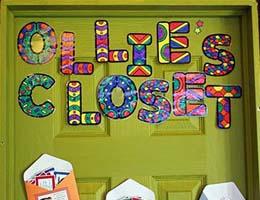 Ollie's closet door