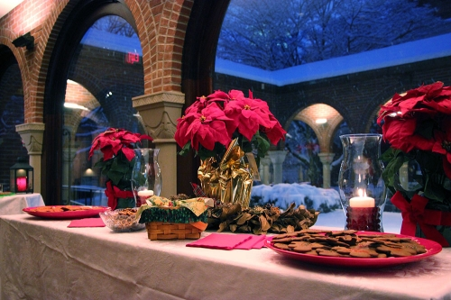 Following the St. Nicholas Mass, light refreshments were served in the narthex.