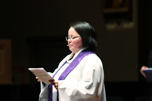 Rev. Lauren leads the St. Nicholas Mass.